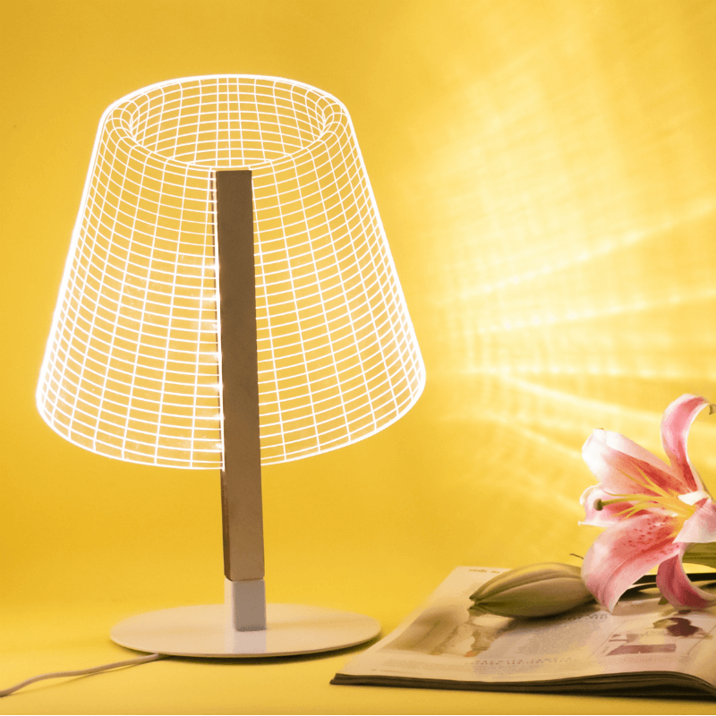 Miss T A 3d Bedside Table Lamp