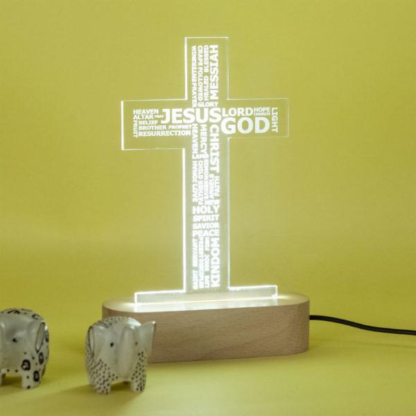 Cross Lamp On