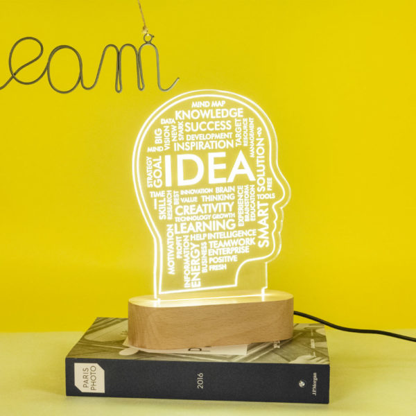 Idea Lamp On