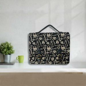 Block Print Laptop Bag Double Buckle