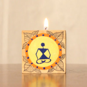 Candle Holder Warli Handpainted