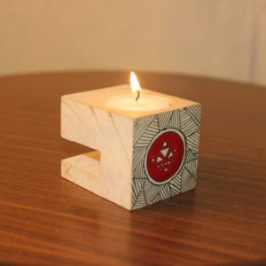 Candle Holder Warli Handpainted Match Box