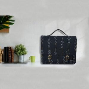 Ikat Laptop Bag Double Buckle Unisex - Black