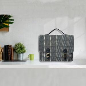 Ikat Laptop Bag Double Buckle Unisex - Black & Grey