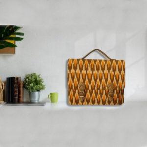 Ikat Laptop Bag Double Buckle Unisex - Dark Yellow