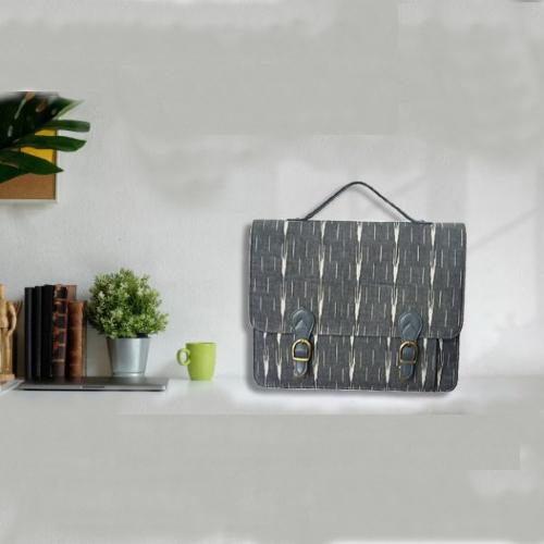 Ikat Laptop Bag Double Buckle Unisex - Grey