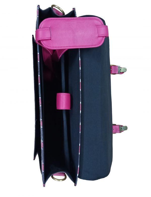 Ikat Laptop Bag Double Buckle Unisex - Pink