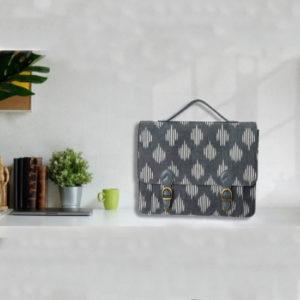 Ikat Laptop Bag Double Buckle Unisex - Stone