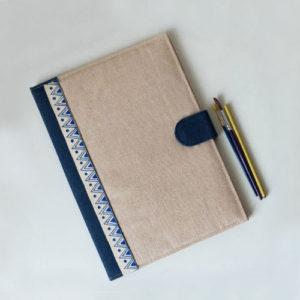 Jute Diary with Handpainted Stripe